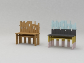 Taos bench render