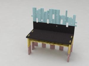 Taos bench render