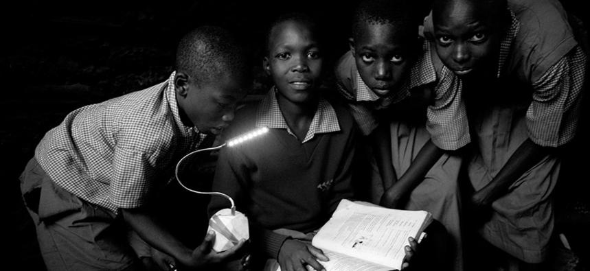Black and white children
